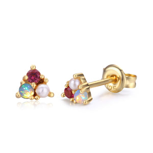 Opal Tourmaline Divinity Ring and Trio Earrings