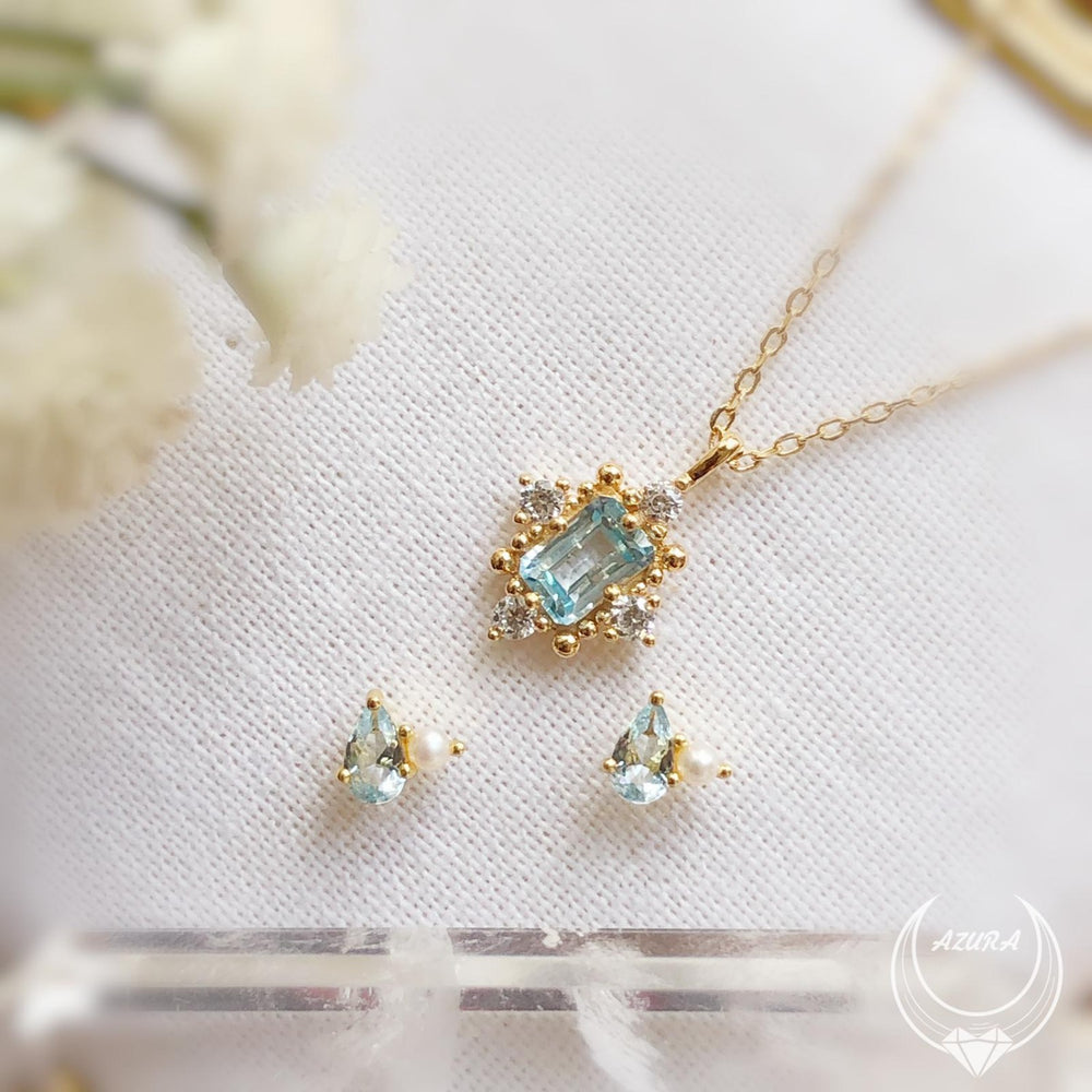 Load image into Gallery viewer, Alchemy Aquamarine Necklace