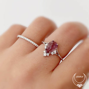 Load image into Gallery viewer, Nirvana Amethyst Ring White Gold