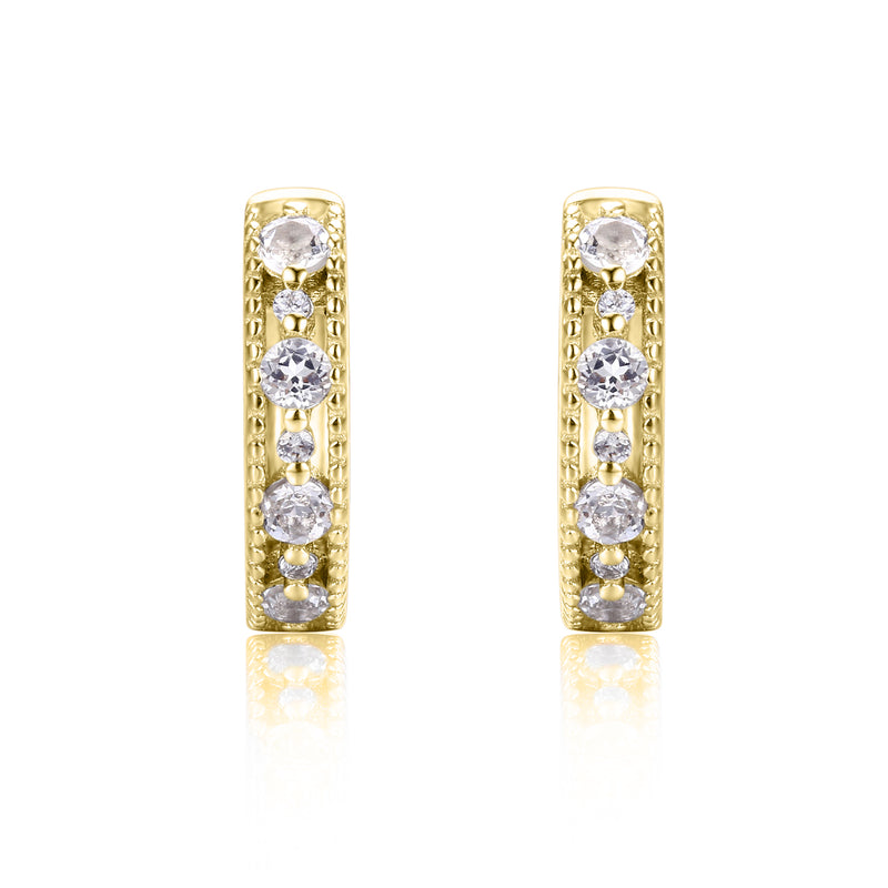 Victorian Lace Earring Hoops (Yellow Gold)