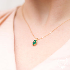 Green Onyx Hexagon Necklace