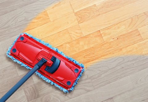 How to Waterproof Floors dry mop cleaning wood floor
