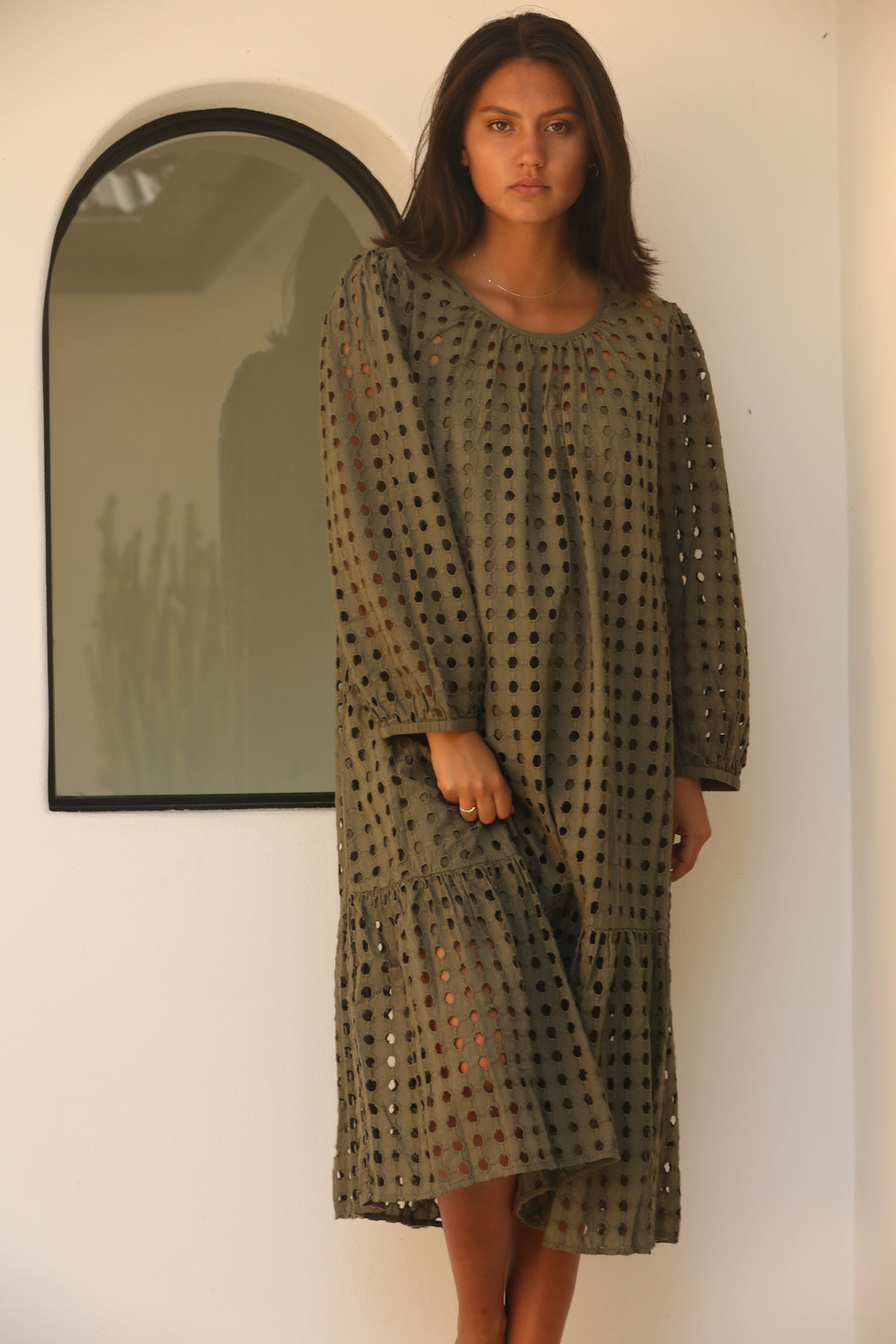 V De Vinster - Shiffli khaki dress