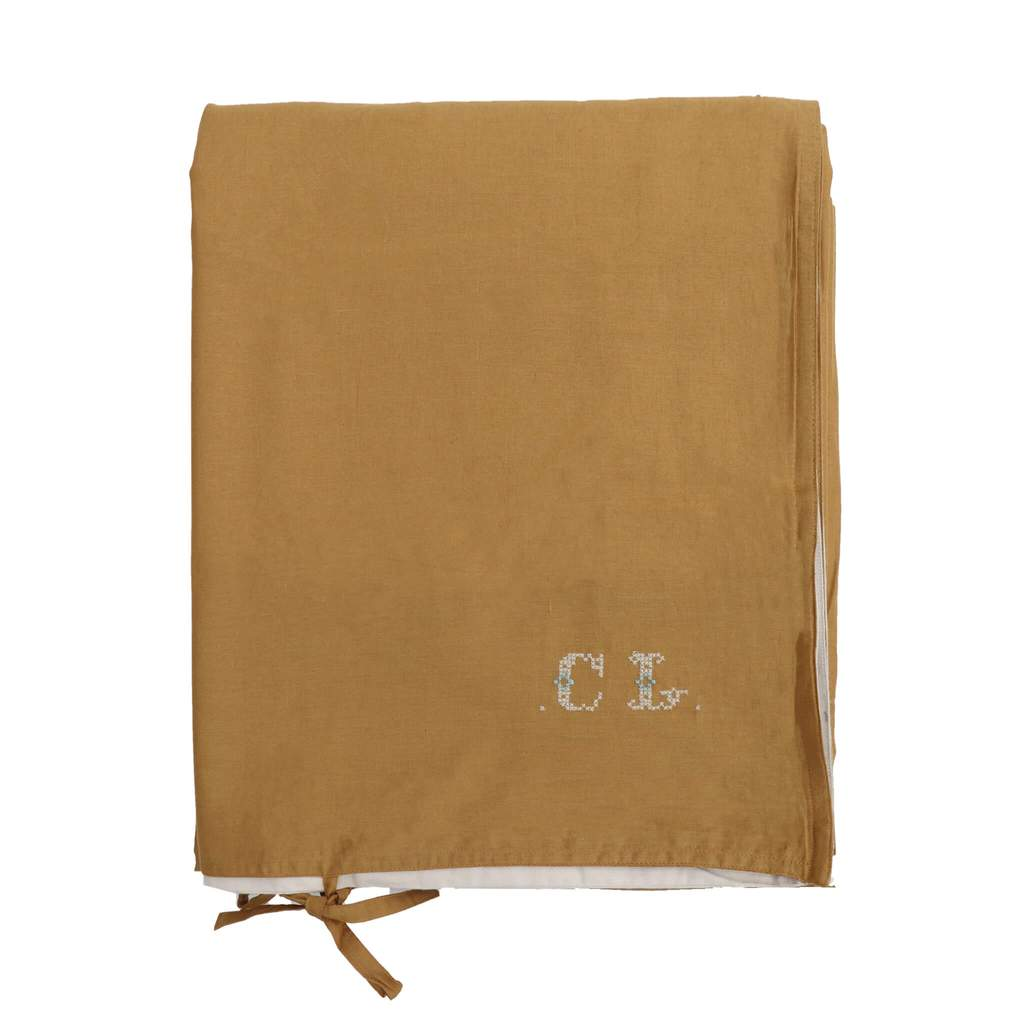 camomile london - ochre/stone duvet cover