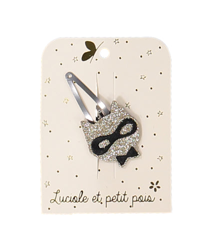 masked cat hair clip – gold