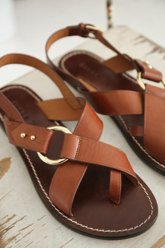 Soeur - Florence cognac leather sandals