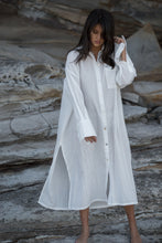 mamapapa - beck long oversize shirt dress