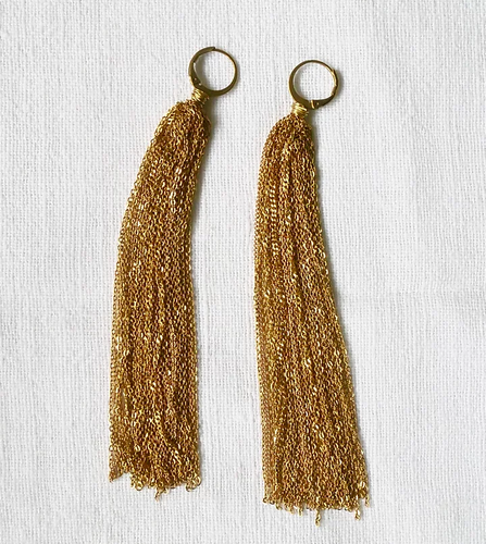 Fall raw earrings