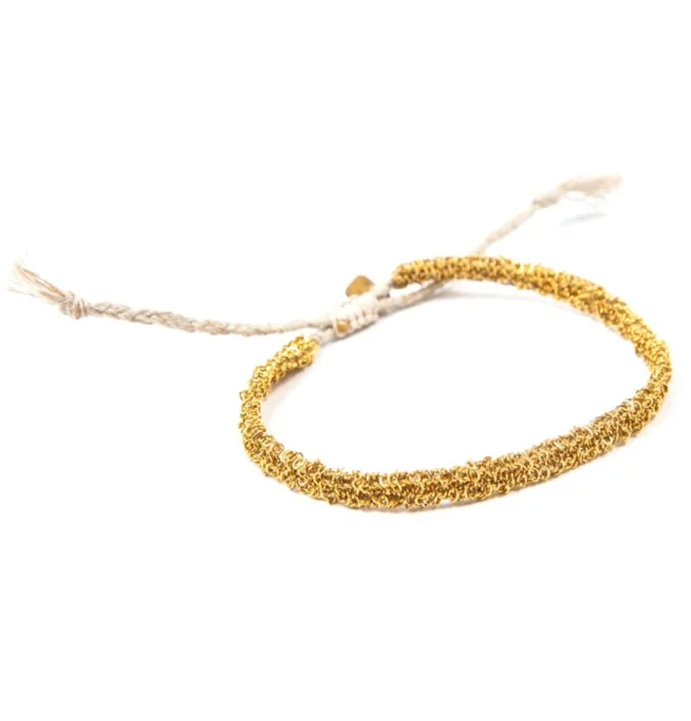 Second skin gold bracelet