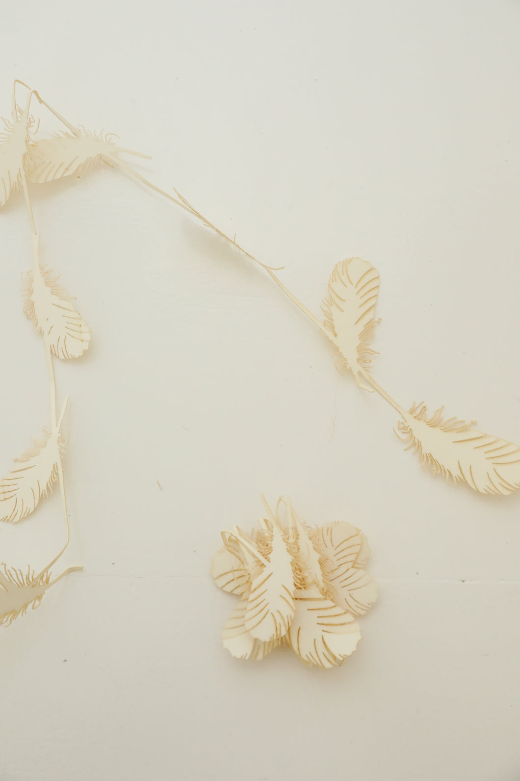holiday paper feather garland