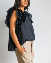 amanda blouse black sleeveless