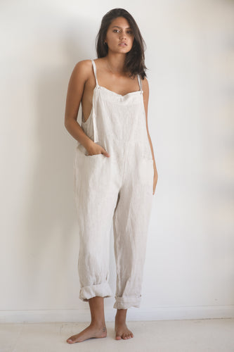 Linen casual overall