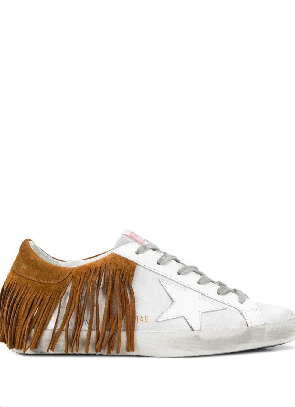 GGDB - Superstar fringed sneakers white   leather