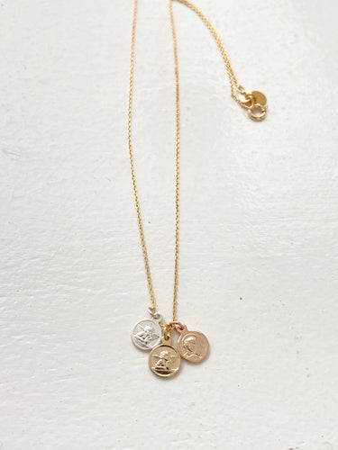 necklace on gold plated chain