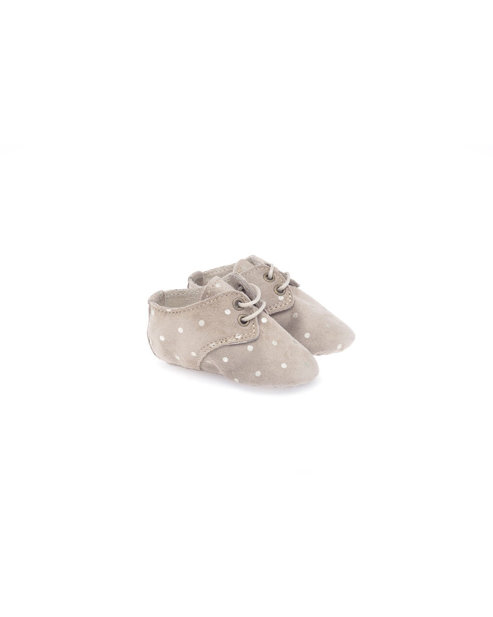 anniel - suede baby shoe light grey