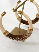 Gas Bijoux Loft raffia hoops earrings