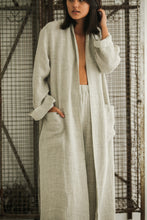 Bed and philosophy - Linen light grey robe
