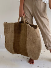 bag natural stripe brown/grey