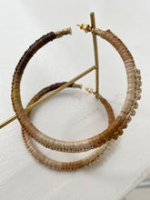 Gas Bijoux Maori raffia hoops earrings