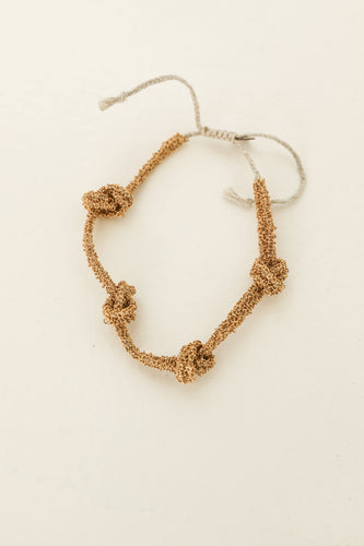 Second skin multi knot gold bracelet