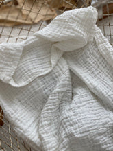 Fibre For Good white cotton gauze swaddle