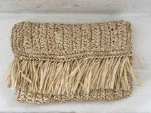 clutch bag natural rafia