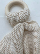 knitted teething ring- natural