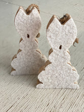 Hanging wood rabbit