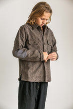 Tocoto Vintage - Checkered overshirt with elbow pads