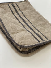 linen quilted pouch