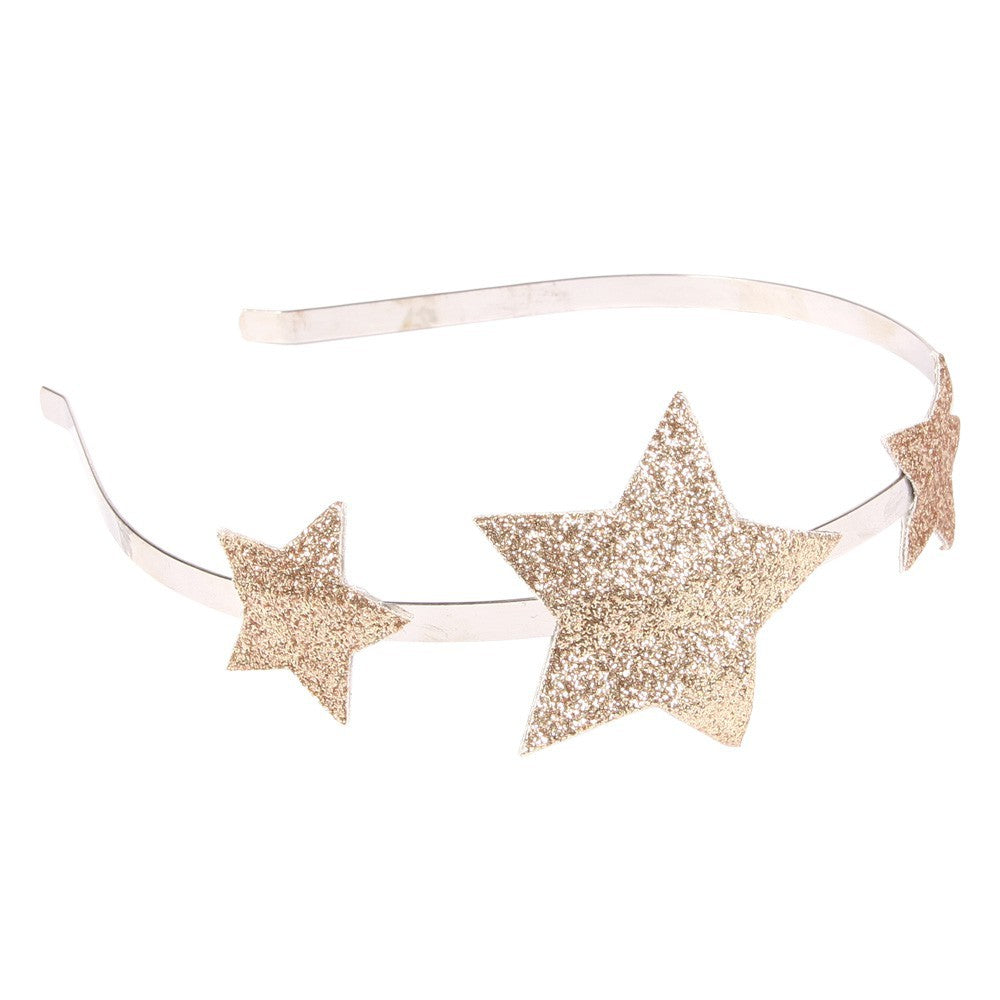 numero74 - glitter star headband - gold