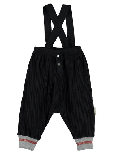 Piupiuchick - Ribbed pants with straps