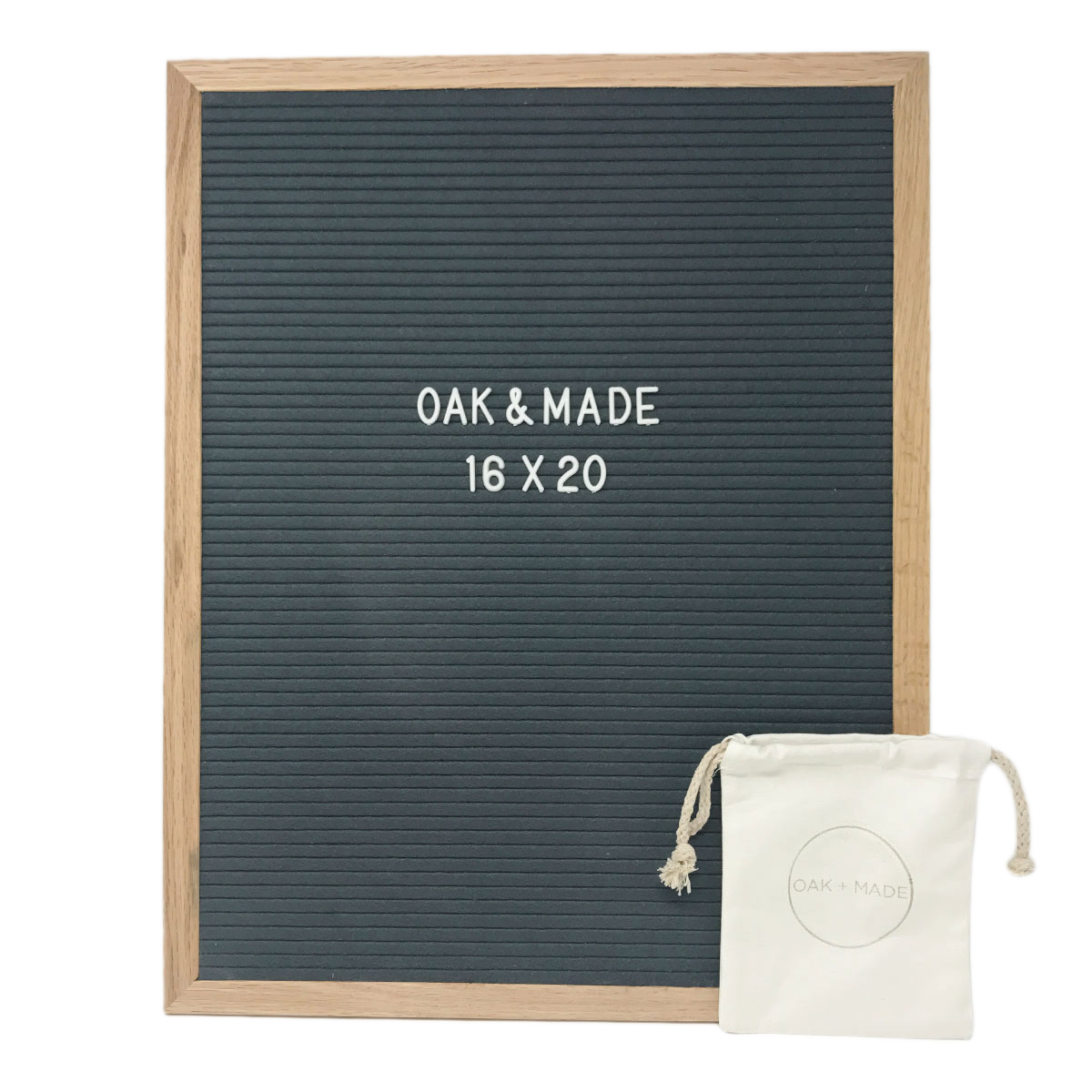 Twain Oak/Dark Gray Letter Board