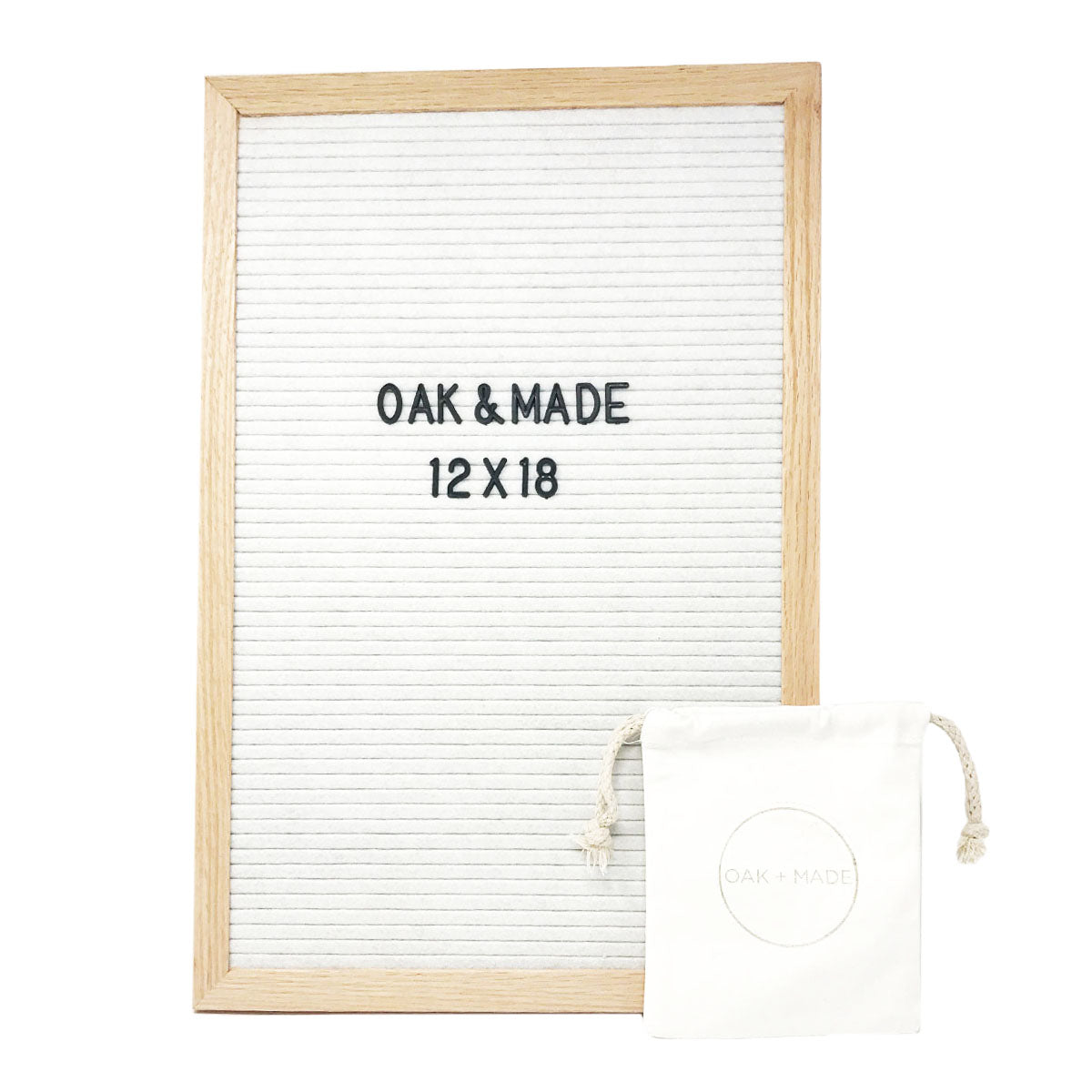 Shakespeare Oak/White Letter Board