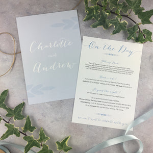 Posy Cornflower - Double Sided Guest Information Cards