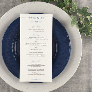 Posy Cornflower - Wedding Menu Card