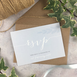 Posy Cornflower - Double Sided RSVP Cards