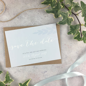 Posy Cornflower - Save the Date Cards
