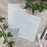 Posy Cornflower - Wedding Table Plan Cards