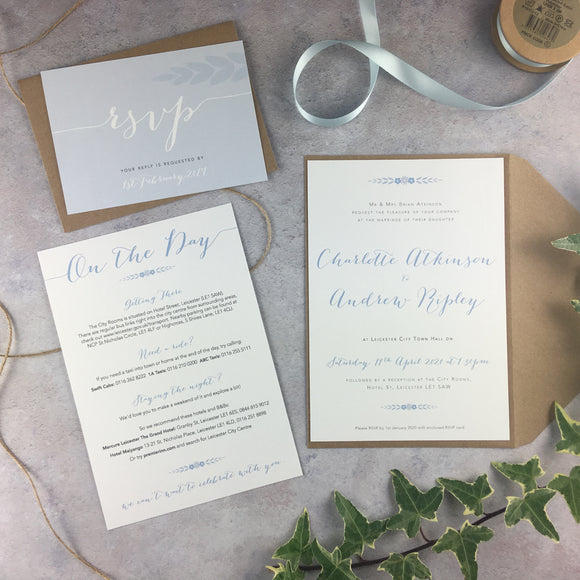 Posy Cornflower - Wedding Invitation Sample