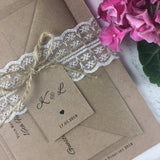 SAMPLE Rustic Lace - Wedding Invitation Sample