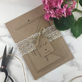 Rustic Lace - Save the Date Cards