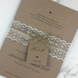 Rustic Lace - Wedding Invitation Tags