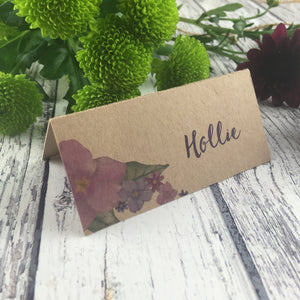Kraft Country Garden - Wedding Placecards
