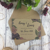 Kraft Country Garden - Save the Date Cards