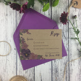 Kraft Country Garden - RSVP Cards