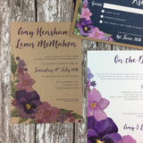 SAMPLE Kraft Country Garden - Wedding Invitation Sample