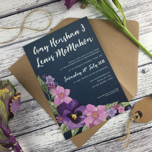Midnight Country Garden - Wedding Invitation Cards