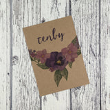 Kraft Country Garden - Wedding Table Name Cards