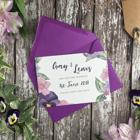 Country Garden - Save the Date Cards